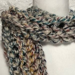Colourful Hand Knit Scarf wrap